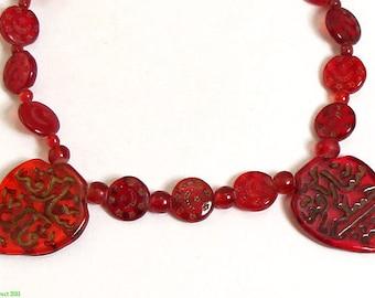 "Islamic ""Hajj"" Trade Beads Pilgrims to Mecca Red African 72938"