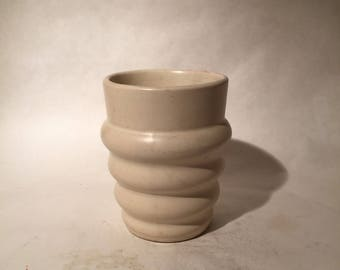 Padre Pottery Vase Cup Planter - White