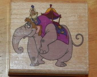 Aladdin Rubber Stamp Enter Prince Ali Elephant Unused Disney Rubber Stampede
