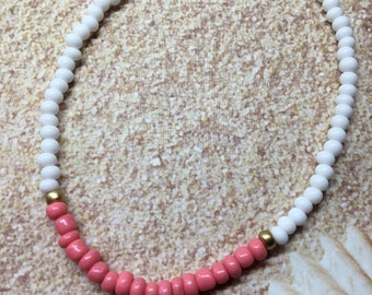 Seed Bead Stretch Anklet-Beach Jewelry-you choose Anklet or Bracelet