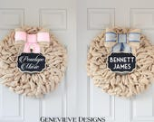 Baby Gender Reveal Party Chalkboard Wreath Package