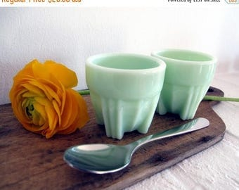 1950 kitchen: 1 typical 1950 french egg cup, jadeite, jadite egg cup