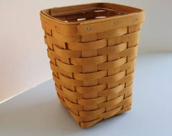 Longaberger, Basket, Tall Square, Spoon Basket, Canister