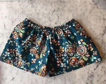 CUSTOM Bridesmaid Boxer Shorts. Womens Pajamas.  Boxer Shorts.  Womens Pajama Pants.  Bridesmaid Pajama Sets. Pajama Set. Teal Sweet Sophia.