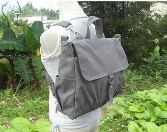 On Sale 20% off Canvas backpack, canvas rucksack, canvas bag, travel bag, school bag, diaper bag, bags for women