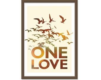 Bob Marley One Love - 13x19 Print Poster