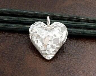 1 of Karen Hill Tribe Silver Heart Pendant 20 mm. :ka4307