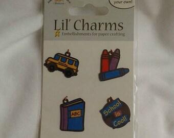 School Charms / School Bus / School is Cool / Crayons / Book Charm