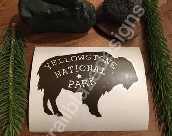 Buffalo Yellowstone National Park Vinyl Decal sticker Laptop Yeti Car 3x5
