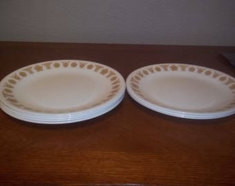 Set of 4 Vintage Butterfly Gold Corelle Salad Plate 8.5 inches GREAT condition!