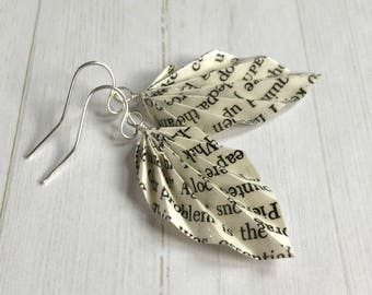 Origami Leaf Earrings // Literary
