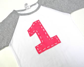 Personalized Initial Shirt-BubbleBabys-Birthday Number Shirt-Letter Shirt-Personalized Shirt-Felt Applique Shirt