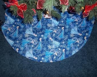 """Disney's Frozen Elsa Christmas tree skirt. 35"""" wide"""