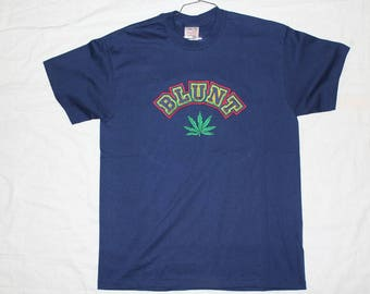 Vintage Blunt Weed Skatboarding Tshirt