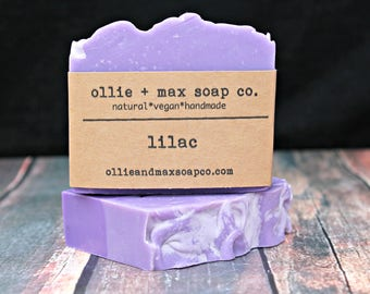 Lilac Soap, Cold Process Soap, Natural Soap, Handmade Soap, Vegan Soap