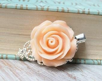 Peach Wedding Hair Piece - Wedding Hair Clip - Fall Bridal Hair Clip - Rose Wedding Hair Accessories - Flower Hair Clip - Floral Hair Comb