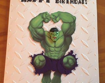Incredible Hulk Birthday card