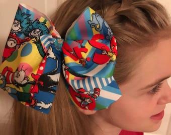 Dr Seuss Cheer Bow