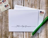 Personal Stationery Notes with Contemporary Script Lettering - Customized for You