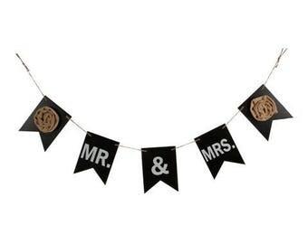 Mr & Mrs Chalkboard Garland
