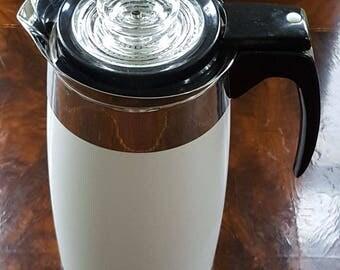 Rare and beautiful! Vintage White Corning Ware 10 Cup Electric Coffee Percolator/Coffee Pot