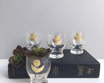 Karhula Finland shot glasses - set of 4 - 1950s vintage