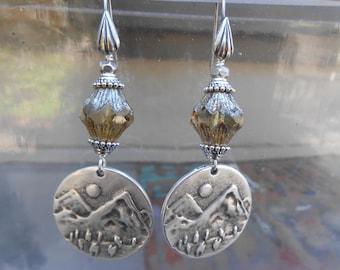 15%off SUNDANCE STYLE EARRINGS boho chic silver earrings