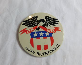 Bicentennial 1776-1976 USA Birthday Celebration Pinback Button dr49