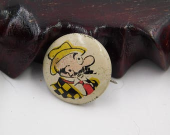 1940's Cartoon Pinback Button From Kelloggs Pep Cereal  Uncle Willie dr44