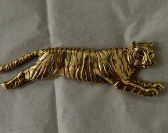 Vintage Metal Tiger Brooch