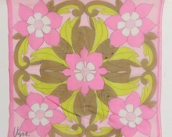 "Small sheer Silk Blend Vera Scarf 23"" x 23""  #010"