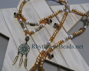 Rhythm Beads, SPUN GOLD, Beaded Drop Accent, Horse necklace,custom colours, jewelry for horses, rhythm beads, Horse Lovers, Parade Tack,