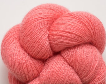 Coral Reef Recycled Cashmere Lace Weight Yarn, CSH00268