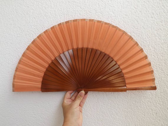 Brown Man Hand Fan Large
