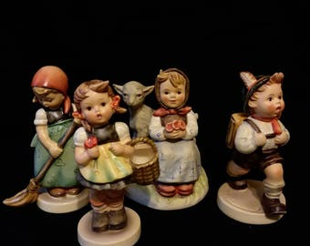 Lot of 4 Vintage Hummel West Germany Figurines