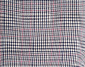 Lyella Beige Gray Plaid Fabric, Polyester/Cotton Blend, by Arthur R. List Textiles,  Fabric by the Yard