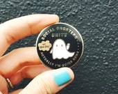 Social Ghosters Unite! Actually I'm Going Home...  ~ Purrfect Enamel Pin For Introverts