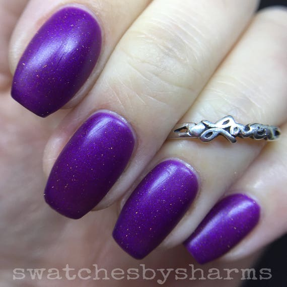 Zombie Star Nail Polish matte purple shimmer vegan