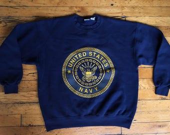 Vintage United States Navy sweatshirt USA xl