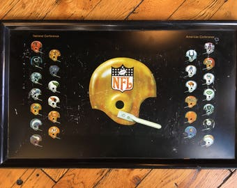 1971 NFL football serving tray