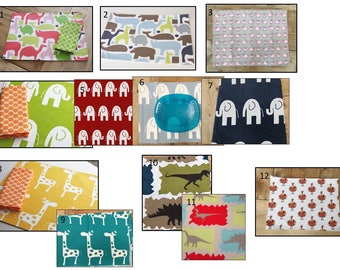ANIMAL Placemats for Kids  - Choose from 12 different styles NEW STYLES added