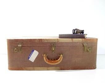 Tweed suitcase | Etsy