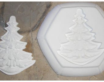 Pretty and Big Christmas Tree Frit Stained glass fusing kiln frit jewelry mold