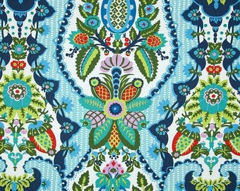 """Tab top Harriet's Kitchen Print  Valance  40"""" x 16 1/2""""  Long Choose lined or unlined Mint"""