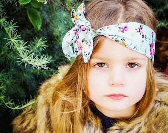 Baby Roses Headband, Pink Roses Headband, Hair Band, Bow Knot Headband, Fabric, Handmade Headband, Baby Headband, Women Headband, Shabbychic