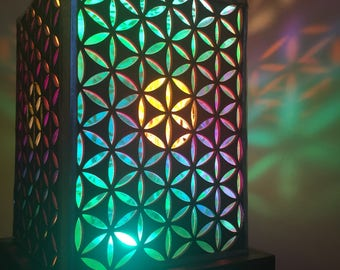 Flower of life lamp. Seed of life. Desktop Lamp.Morocco Lamp. Modern lighting. Wood Lamp. Bedside lamp. LED Lighting.