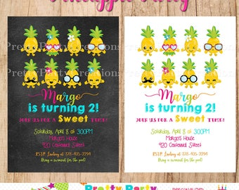 PINEAPPLE PARTY invitation - YOU Print