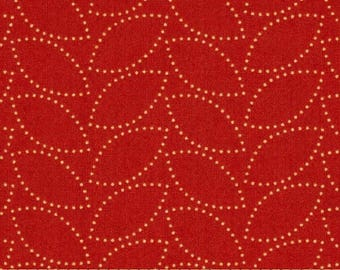 1 Yard CHICOPEE Dotted Leaf PWDS036 Red Orange Denyse Schmidt Free Spirit Quilting Sewing Fabric