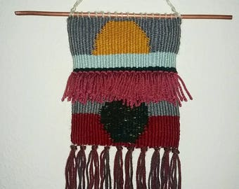 Small Abstract Sun and Moon Weaving