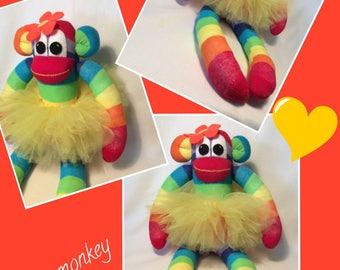 Annabelle the tutu Sock monkey by sunnyteddysdesigns